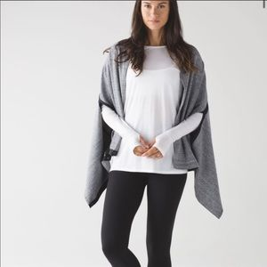 Lululemon Vinyasa Wrap Scarf Heathered White